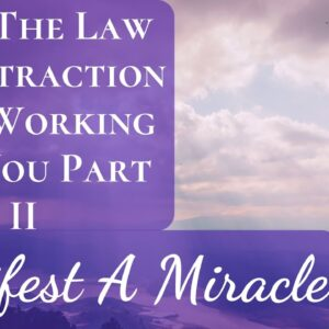 Manifest a Miracle | Why The Law Of Attraction Isn't Working For You Part II | Easy Way To Fix It