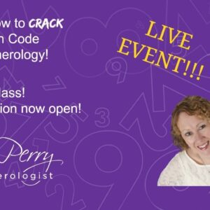 LIVE online NUMEROLOGY COURSE with ANN PERRY NUMEROLOGIST!